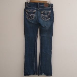 BKE Buckle Kate Bootcut Stretch Jeans Rhinestones